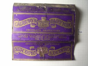 Cadbury's Chocolate wrapper