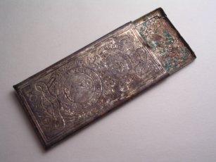 Sharp's silver needle case